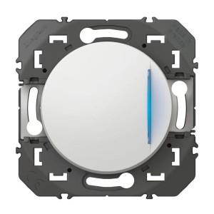 Poussoir simple avec voyant lumineux DOOXIE 6A 250V~ finition blanc LEGRAND