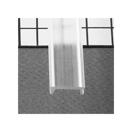 Diffuseur clic profilé 15.4mm transparent 2m pour bandeaux LED VISION EL