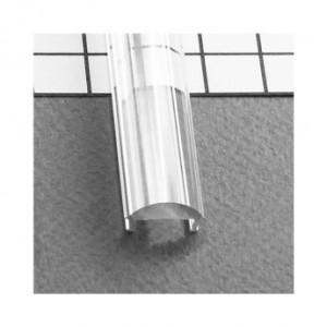 Diffuseur lentille 60° profilé 15.4mm transparent 2m pour bandeaux LED VISION EL
