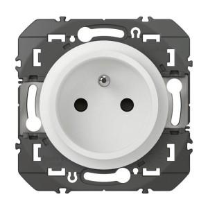 Prise de courant Easyréno 2P+T faible profondeur DOOXIE 16A finition blanc LEGRAND
