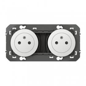Double prise de courant 2P+T Surface DOOXIE 16A précâblées finition blanc LEGRAND