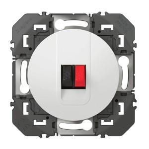 Prise haut-parleur simple DOOXIE finition blanc LEGRAND