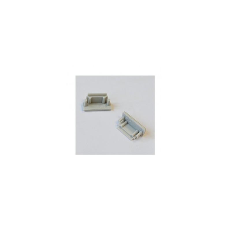 Terminaison gris pour profilé plat X2 VISION EL
