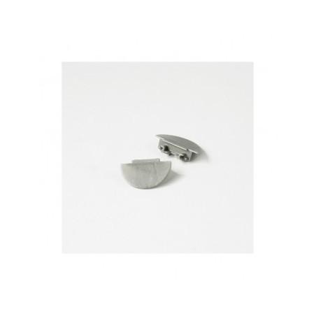 Terminaison gris pour profilé angle 30/60° X2 VISION EL