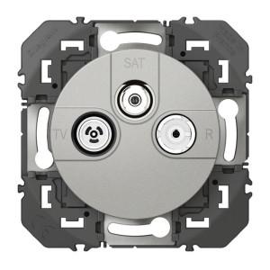 Prise TV-R-SAT 1 câble DOOXIE finition alu LEGRAND