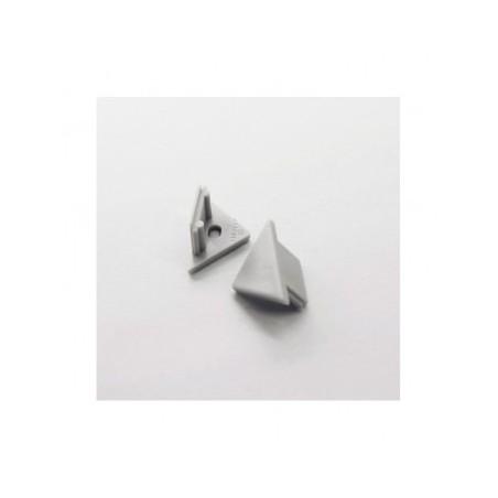 Terminaison gris pour profilé angle 45° X2 VISION EL