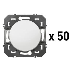 Lot de 50 va-et-vient DOOXIE 10AX 250V~ finition blanc LEGRAND