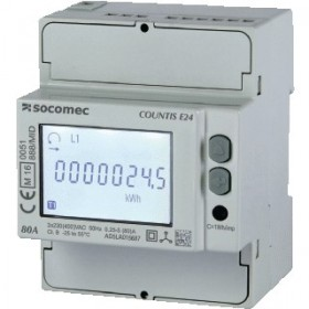 Compteur d'énergie active triphasé COUNTIS E24 - direct 80 A SOCOMEC