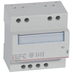 Alimentation monophasée redressée filtrée 230V~ 24V - 21,5 W - 0,9A - 5 modules LEGRAND
