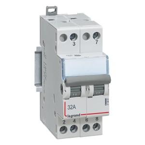 Interrupteur-inverseur modulaire double va-et-vient 400V~ - 2 modules LEGRAND