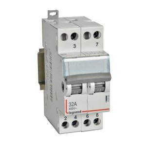 Interrupteur-inverseur modulaire double va-et-vient à point milieu 250V~ - 2 modules LEGRAND
