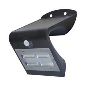 Applique murale LED solaire 3.2W 4000°K noir + détecteur VISION EL