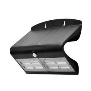 Applique murale LED solaire 6.8W 4000°K noir + détecteur VISION EL