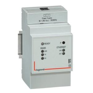 Convertisseur IP - RS485 et Ethernet 90V~ à 260V~ - 3 modules LEGRAND