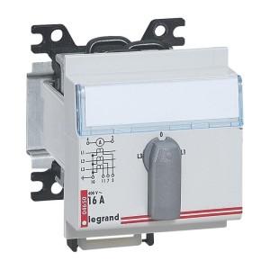 Commutateur de voltmètre modulaire triphasé avec neutre 7 positions - 3 modules LEGRAND