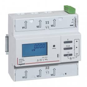Compteur modulaire triphasé EMDX³ non MID raccordement direct 125A - 6 modules - avec sortie à impulsions et RS485 LEGRAND