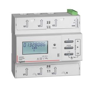Compteur modulaire triphasé EMDX³ MID raccordement direct 125A - 6 modules - avec sortie à impulsions et RS485 LEGRAND
