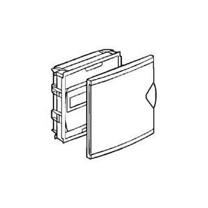 Coffret mini encastré 1 rangée 6+2 modules - porte isolante blanc RAL9010 LEGRAND