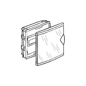 Coffret mini encastré 1 rangée 6+2 modules - porte isolante transparente LEGRAND