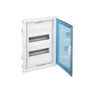 Coffret encastré 2 rangées 24+4 modules - avec porte isolante galbée transparente LEGRAND