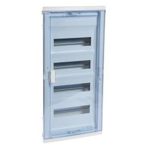 Coffret encastré 4 rangées 48+8 modules - avec porte isolante galbée transparente LEGRAND