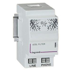 Filtre ADSL pour accès téléphone et internet dans coffret multimédia Optimum - 2 modules LEGRAND
