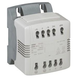 Transformateur de commande et signalisation - 100 VA - connexion auto - prim 230V à 400V/sec 24V~ LEGRAND