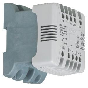 Transformateur de commande et signalisation - 40 VA - connexion vis - prim 230V à 400V/sec 24V~ à 48V~ LEGRAND