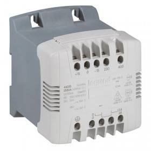 Transformateur de commande et signalisation - 250 VA - connexion vis - prim 230V à 400V/sec 24V~ à 48V~ LEGRAND