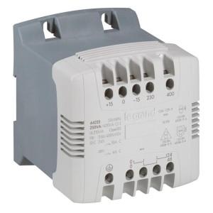 Transformateur de commande et séparation des circuits - 250 VA - connexion vis - prim 230V à 400V/sec 115 à 230V~ LEGRAND