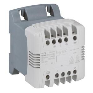 Transformateur de commande et séparation des circuits - 63 VA - connexion vis - prim 230V à 400V/sec 115 à 230V~ LEGRAND