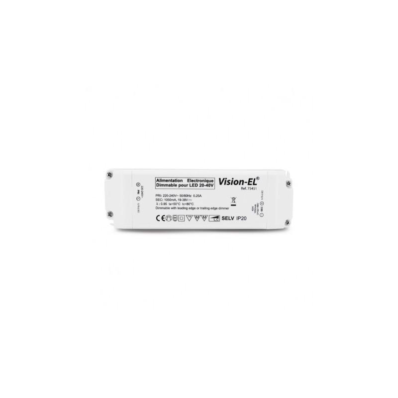 Alimentation pour LED 12VDC 50W dimmable coupure de phase VISION EL