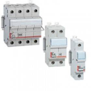 Coupe-circuit sectionneur unipolaire+neutre pour cartouche 10x38mm - 500 V~ LEGRAND