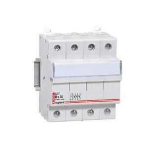 Coupe-circuit sectionneur tripolaire+neutre pour cartouche 10x38mm - 500 V~ LEGRAND