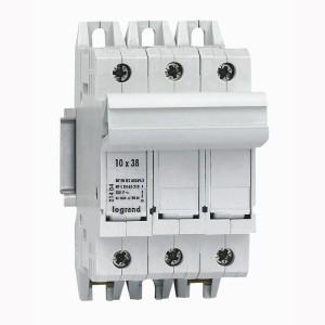 Coupe-circuit sectionnable SP38 3P - pour cartouche 10x38mm LEGRAND