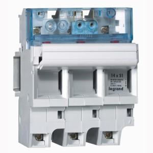 Coupe-circuit sectionnable SP51 3P avec microrupteur - pour cartouche 14x51mm LEGRAND