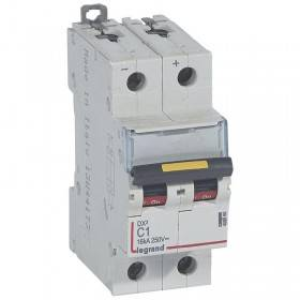 Disjoncteur DX³ 16kA courant continu 1A courbe C - 2 modules LEGRAND