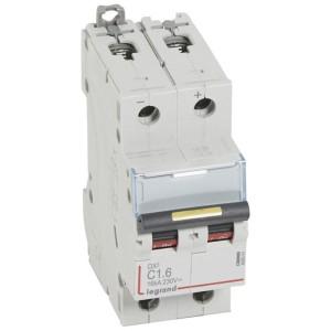 Disjoncteur DX³ 16kA courant continu 2A courbe C - 2 modules LEGRAND