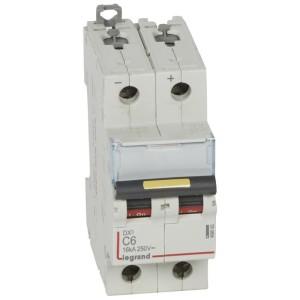 Disjoncteur DX³ 16kA courant continu 6A courbe C - 2 modules LEGRAND