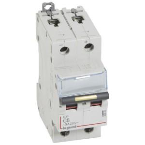 Disjoncteur DX³ 16kA courant continu 8A courbe C - 2 modules LEGRAND