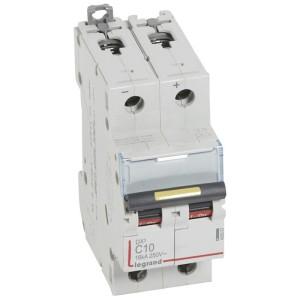 Disjoncteur DX³ 16kA courant continu 10A courbe C - 2 modules LEGRAND