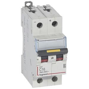 Disjoncteur DX³ 16kA courant continu 16A courbe C - 2 modules LEGRAND