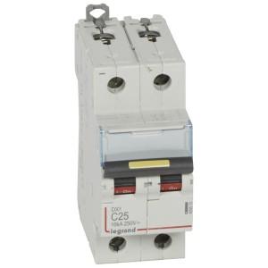 Disjoncteur DX³ 16kA courant continu 25A courbe C - 2 modules LEGRAND