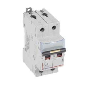 Disjoncteur DX³ 16kA courant continu 32A courbe C - 2 modules LEGRAND