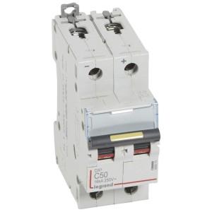 Disjoncteur DX³ 16kA courant continu 50A courbe C - 2 modules LEGRAND