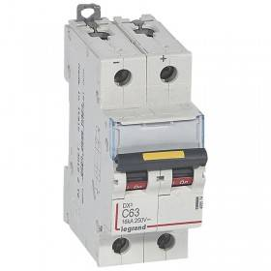 Disjoncteur DX³ 16kA courant continu 63A courbe C - 2 modules LEGRAND