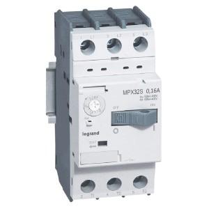 Disjoncteur moteur MPX3 32S - réglage thermique 0,16A à 0,25A - pouvoir de coupure 100kA en 415V LEGRAND
