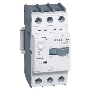 Disjoncteur moteur MPX3 32S - réglage thermique 0,63A à 1A - pouvoir de coupure 100kA en 415V LEGRAND