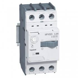 Disjoncteur moteur MPX3 32S - réglage thermique 1A à 1,6A - pouvoir de coupure 100kA en 415V LEGRAND