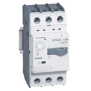 Disjoncteur moteur MPX3 32S - réglage thermique 1,6A à 2,5A - pouvoir de coupure 100kA en 415V LEGRAND